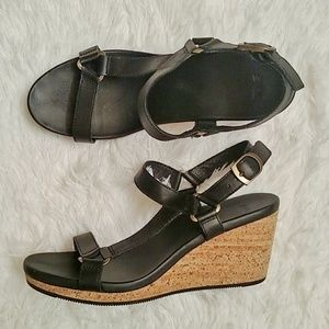 Teva Leather Universal Arrabelle Cork Wedge Sandal